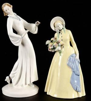German porcelain figure of a woman
