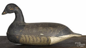 New Jersey carved and painted brant duck decoy mid 20th c