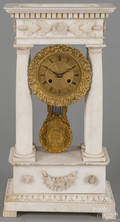 French marble portico clock