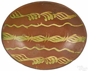 American redware loaf dish 19th c