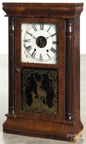 Seth Thomas rosewood veneer shelf clock