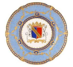 Sevres Armorial Heraldic Porcelain Cabinet Plate