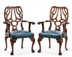 Pair of Georgian Open Armchairs After Grendey