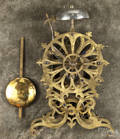Brass fusee skeleton clock