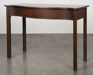 George III style mahogany pier table