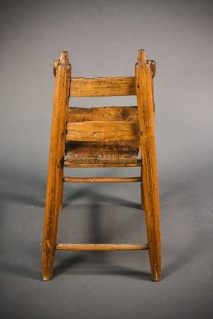 American 19th C Primitive Childs Chair