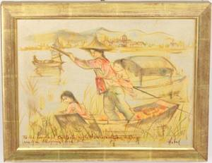 Edna Hibel Lithograph  Oil Figural Artwork