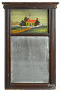 Late Federal mahogany mirror