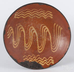 Large redware charger