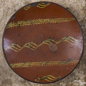 Pennsylvania or New Jersey redware charger 19th c