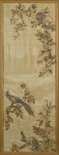 Continental silkwork panel