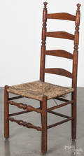 American maple ladderback side chair
