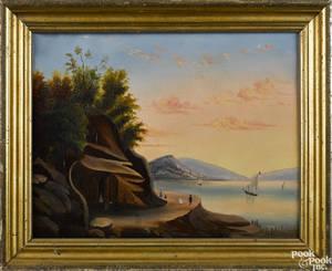 Hudson River School oil on canvas landscape 19th c