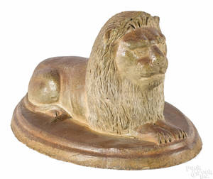 Sewer tile recumbent lion late 19th c