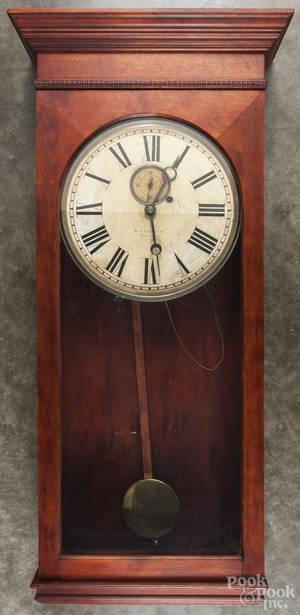 Gilbert mahogany regulator clock