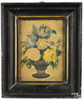 Pair of watercolor on paper still life paintings 19th c