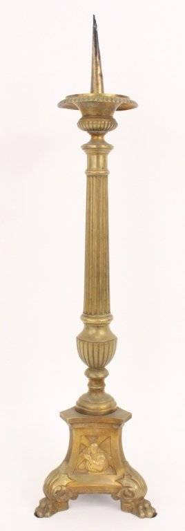 Italian Brass Candlestick or Candle Pricket
