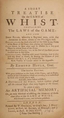 104 HoyleShort Treatise on the Game of WhistSigned