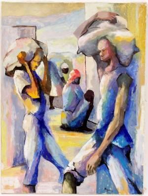 Dieudonn Cdor Figural Oil on Canvas