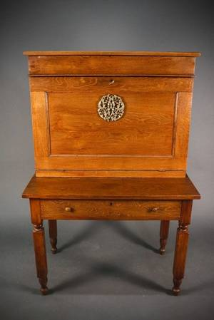 American Oak Plantation Style or Clerks Desk