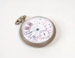 Playing card motif pocket watch