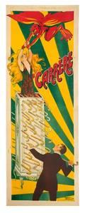 224 Carerre cane cabinet litho poster Paris 1920s