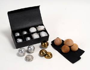 318 Paul Foxs set of eight aluminum billiard balls