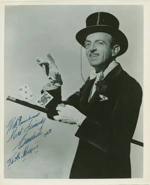 255 Cardini Inscribed and signed photograph NY 1950