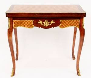 20th C Game Table with Gilt Mounts