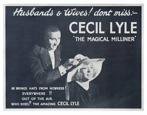 317 Lyle Cecil The Magical Milliner 1 sheet poster