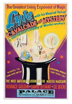 316 Cecil Lyle Cavalcade of Mystery 12 sheet poster