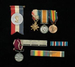 Cardinis World War I ribbons and medals