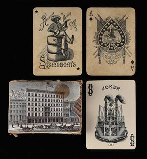 Two Miscellaneous Steamboat Decks of Playing Cards 1