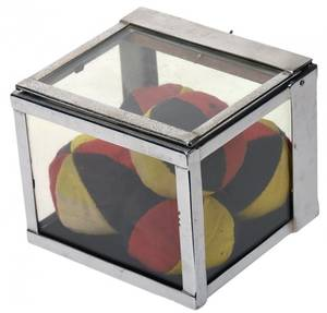 Crystal Casket German  ca 1940 Chrome plated box