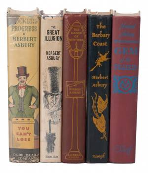 Asbury Herbert Group of five Herbert Asbury books