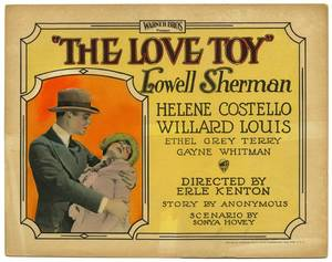 The Love Toy Warner Bros 1926 Silent movie lobby