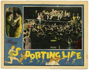 Sporting Life Universal 1925 Silent movie lobby card