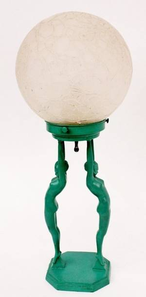 Frankart Figural Globe Lamp L211