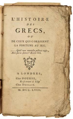 LHistoire Des Grecs ou de Ceux qui Corrigent la