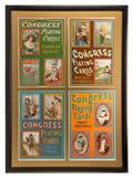 Four Congress Playing Card lithographed advertisements