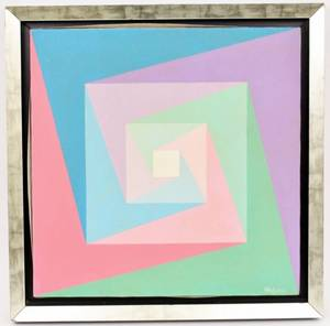 Ruth K Gross Geometric Abstract Oil on Canvas
