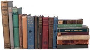 Shelf of twentyone classic and vintage books