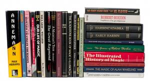 Collection of 25 books on magicians histories etc