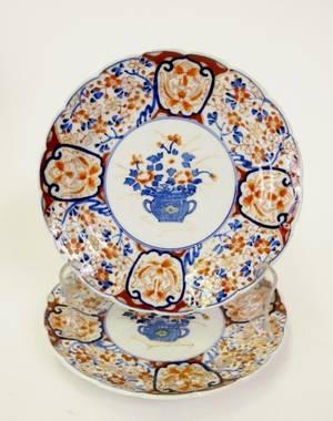 Pair of Imari Porcelain Plates