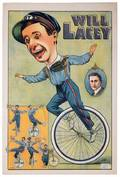 Lacey Will Vaudeville Unicycle Poster London S C