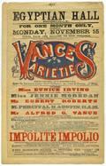 Egyptian Hall Vances Varieties Poster and Programs