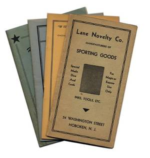 Miscellaneous Group of four vintage gambling supply