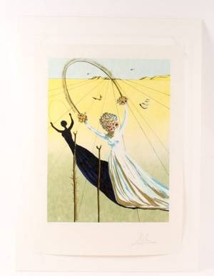Dali Transcendent Passage Lithograph Signed