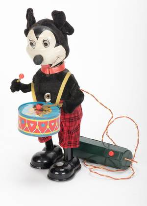 898 Mickey Mouse Drummer toy Japan MAR ca 1960