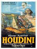 Houdini Buried Alive Large litho poster 1924